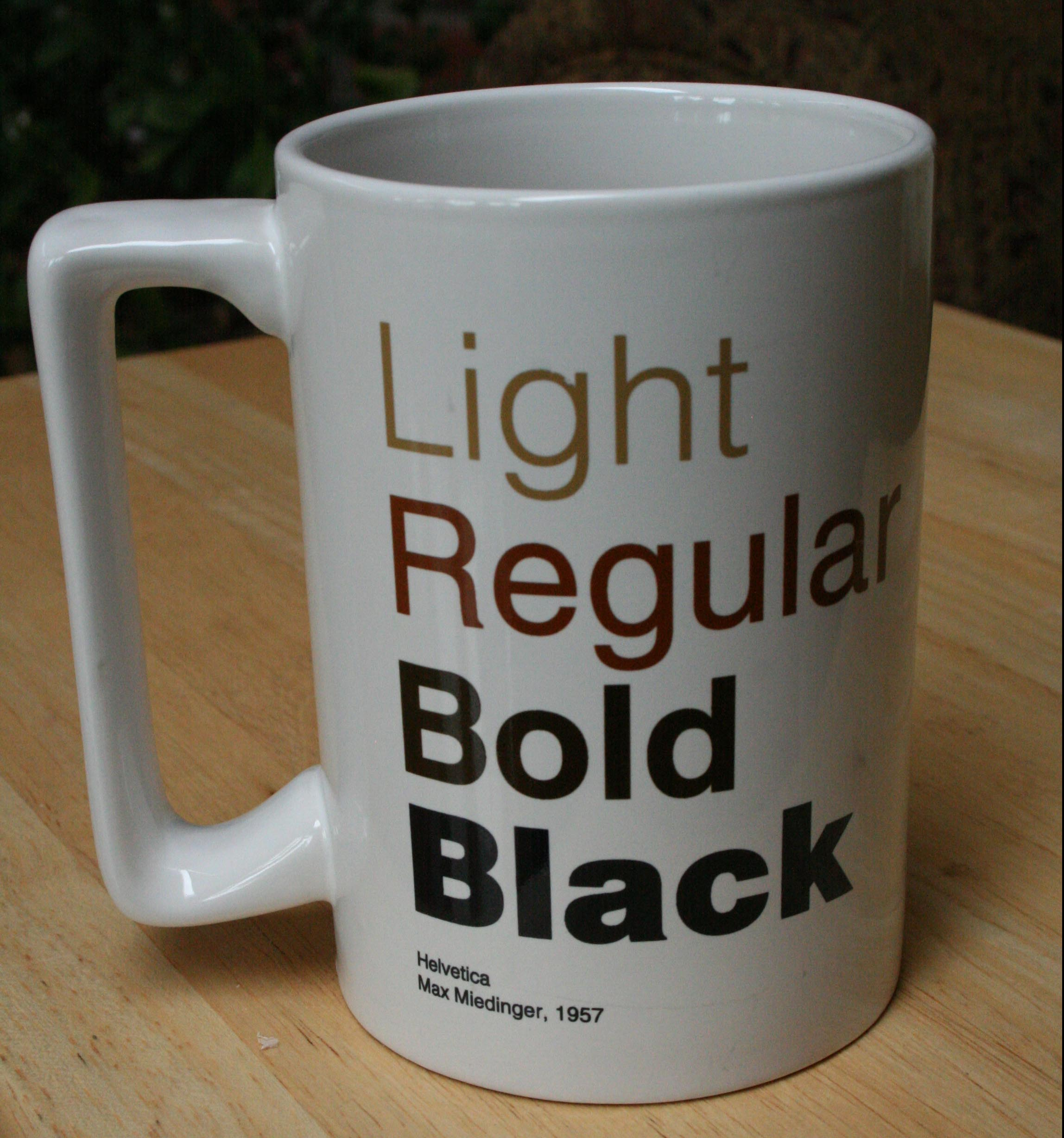 the lovely Helvetica mug