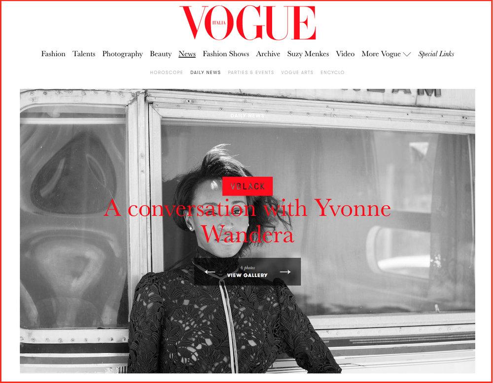 Vogue VBLACK interview