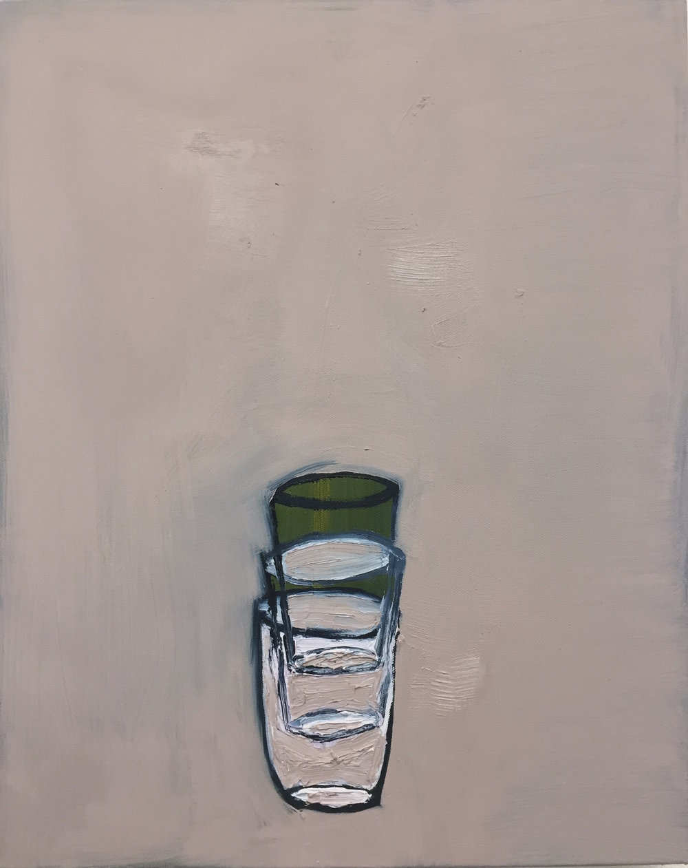"study of cups  oil on canvas   16""x20"""