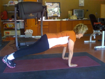 Leni Reiss came to me 4 years ago never exercising before. Now, at 75 years young, she bench presses 60 lbs, and can hold a plank with excellent form!  Her bone density has stabilized and her low back pain has vanished.