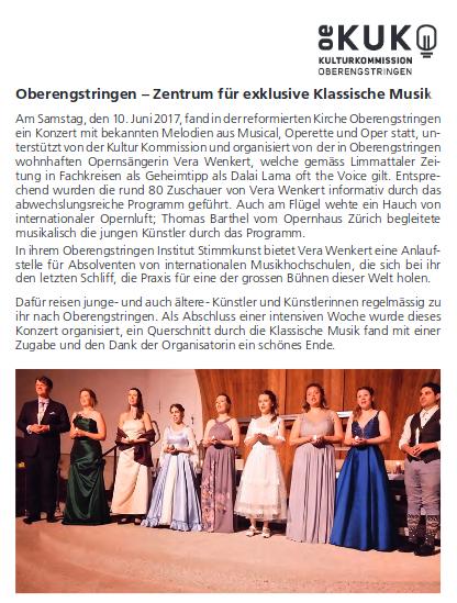 Engstringer Kurier 7/2017: Insitut StimmKunst: Masterclass + Konzert