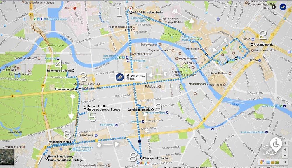 11km Wheelchair-friendly Stroll Map