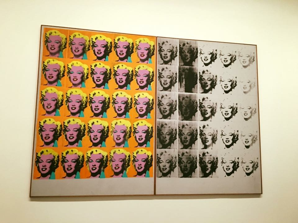 Andy Warhol's Marilyn Diptych is one of art pieces on display at The Tate Modern.
