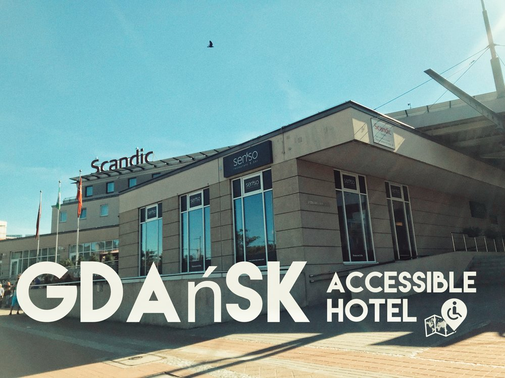 Scandic Gdansk has a great location and it is fully wheelchair friendly, Click on the picture for a full review.
