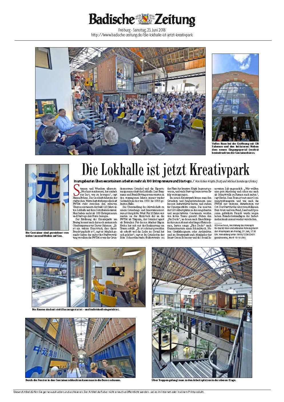 Presse Lokhalle Freiburg