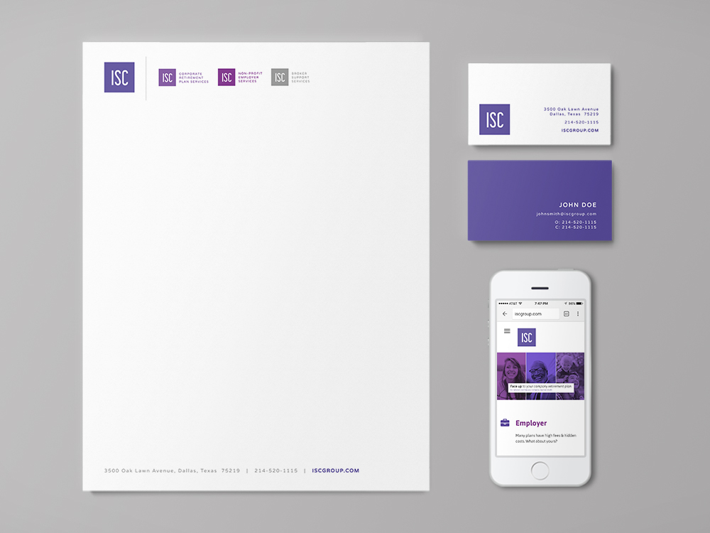 Letterhead, Business Cards, Website