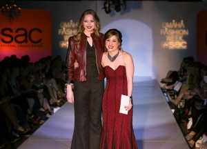 Katie Thompson takes SAC Federal Credit Union Top Designer Prize on March 13. Photo by AJ Brown.