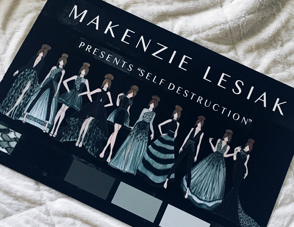 Sketches from Makenzie Lesiak's upcoming collection