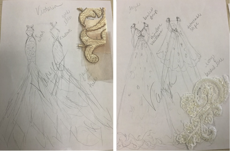 "Sketches for Vanya Design's upcoming collection, ""Redemption"""