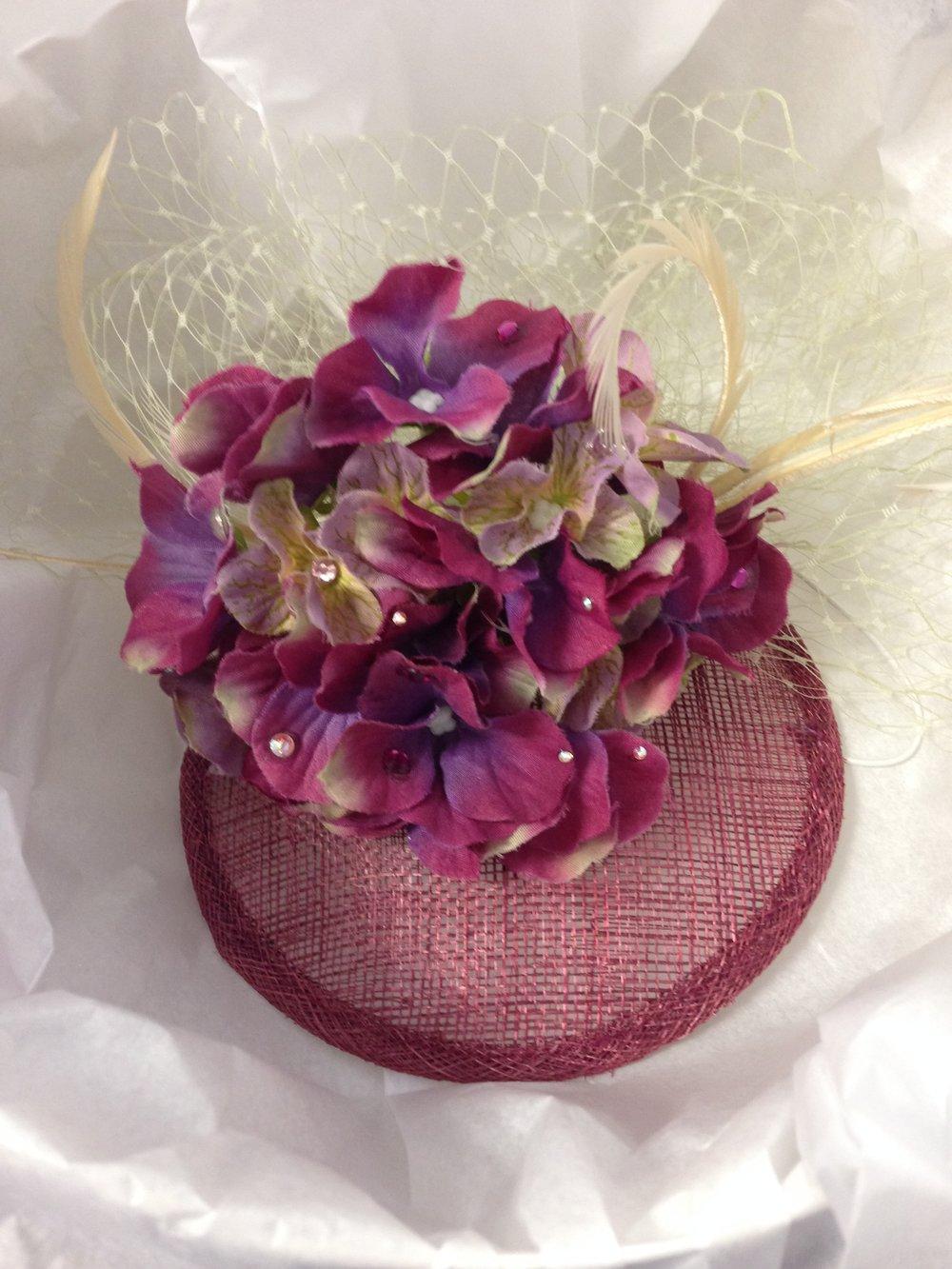 A completed Margie Trembley Chapeaux hat