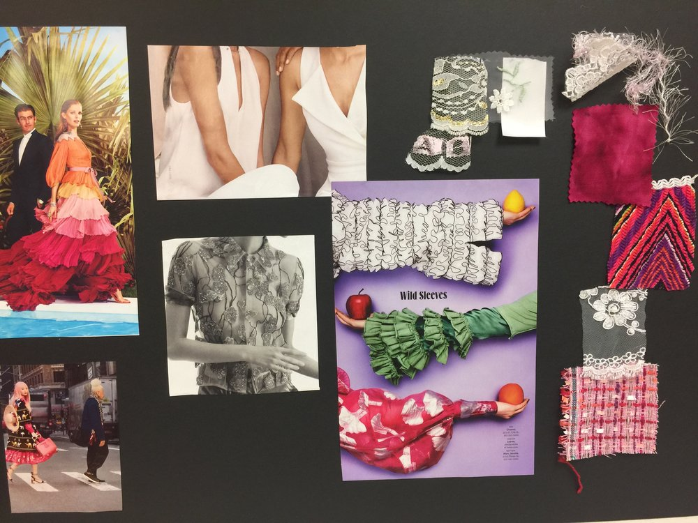 Fella's mood board for his upcoming collection