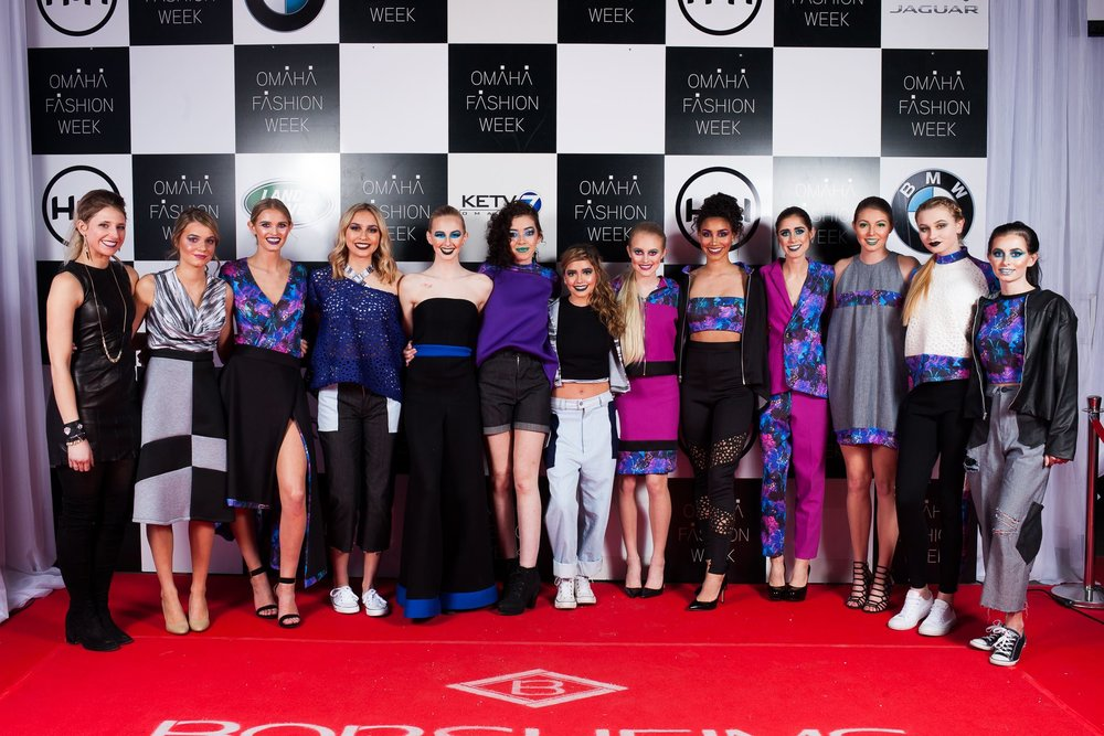 Omaha Fashion Week Spring 2018 Borsheims Red Carpet Shot.