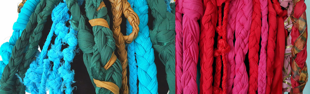 Examples of braids to be incorporated into pieces for upcoming line, Intertwined.