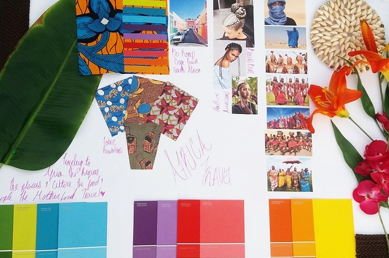 My vision board helps me through everything! From pulling inspiration, matching colors, and reminding me what my style is...Afrocentric!