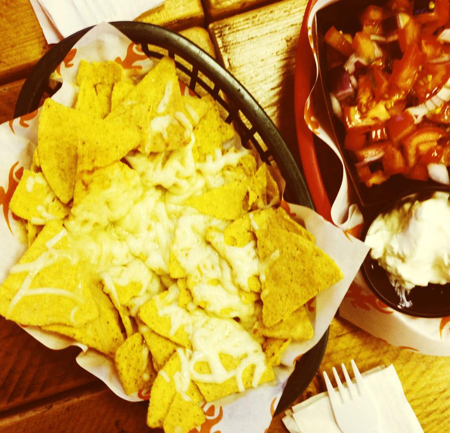 Weegee nachos. Mmmm. Aye!