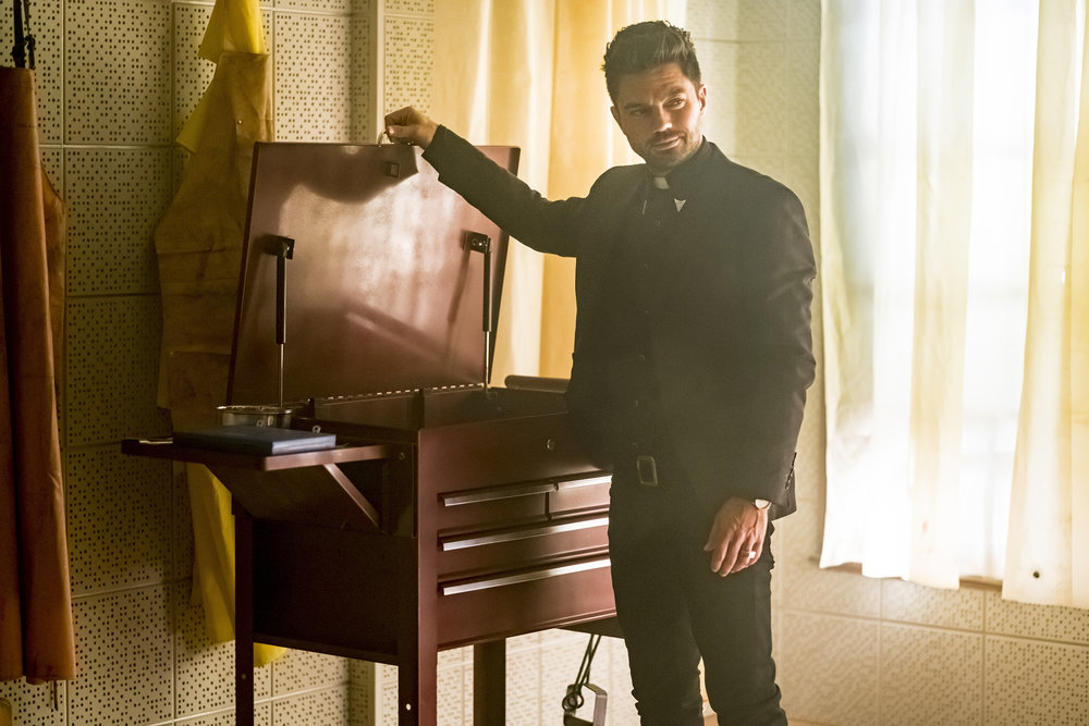 Dominic Cooper as Jesse Custer. Photo: Alfonso Bresciani/AMC/Sony Pictures Television