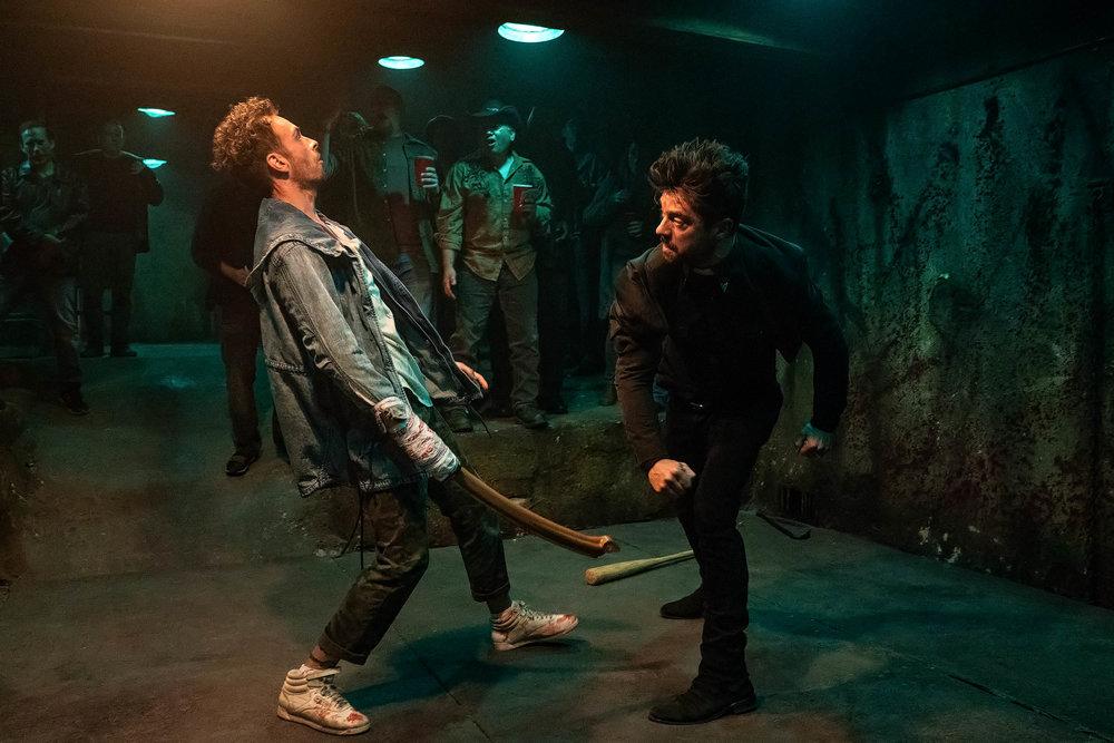 Dominic Cooper as Jesse Custer, Joseph Gilgun as Cassidy.