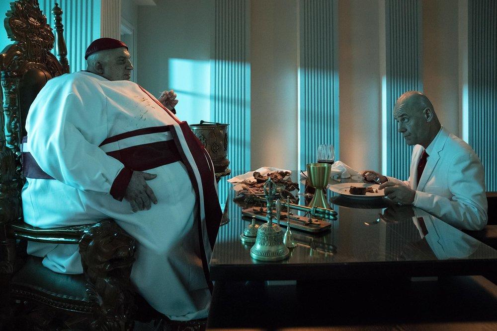 Jonny Coyne as All Father, Pip Torrens as Herr Starr.