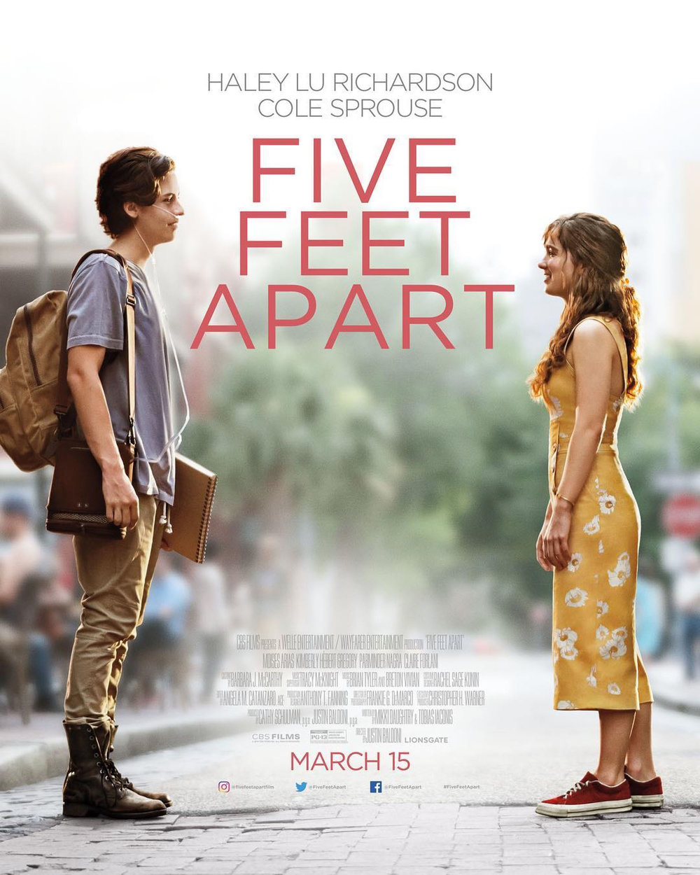 "Cole Sprouse and Haley Lu Richardson in "" Five Feet Apart ""  Alfonso Bresciani/CBS Films/Lionsgate"