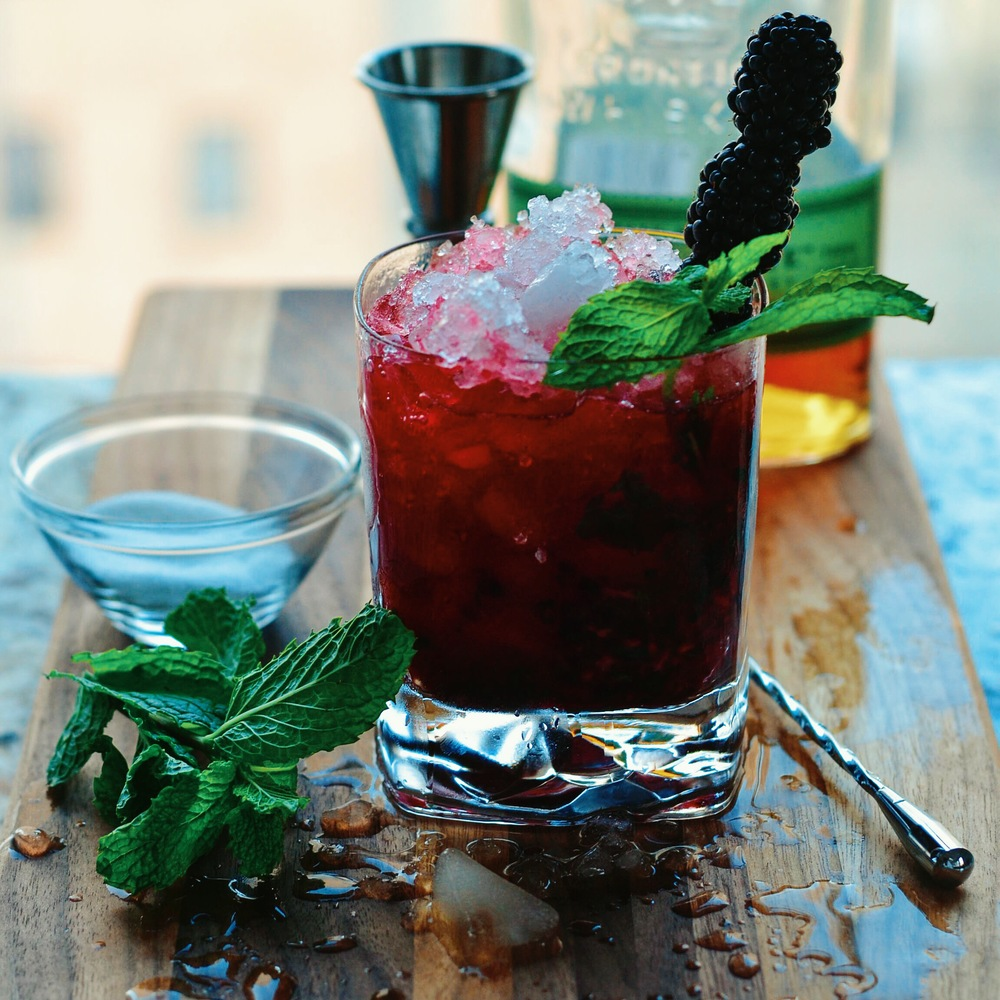 Blackberry Whiskey Smash
