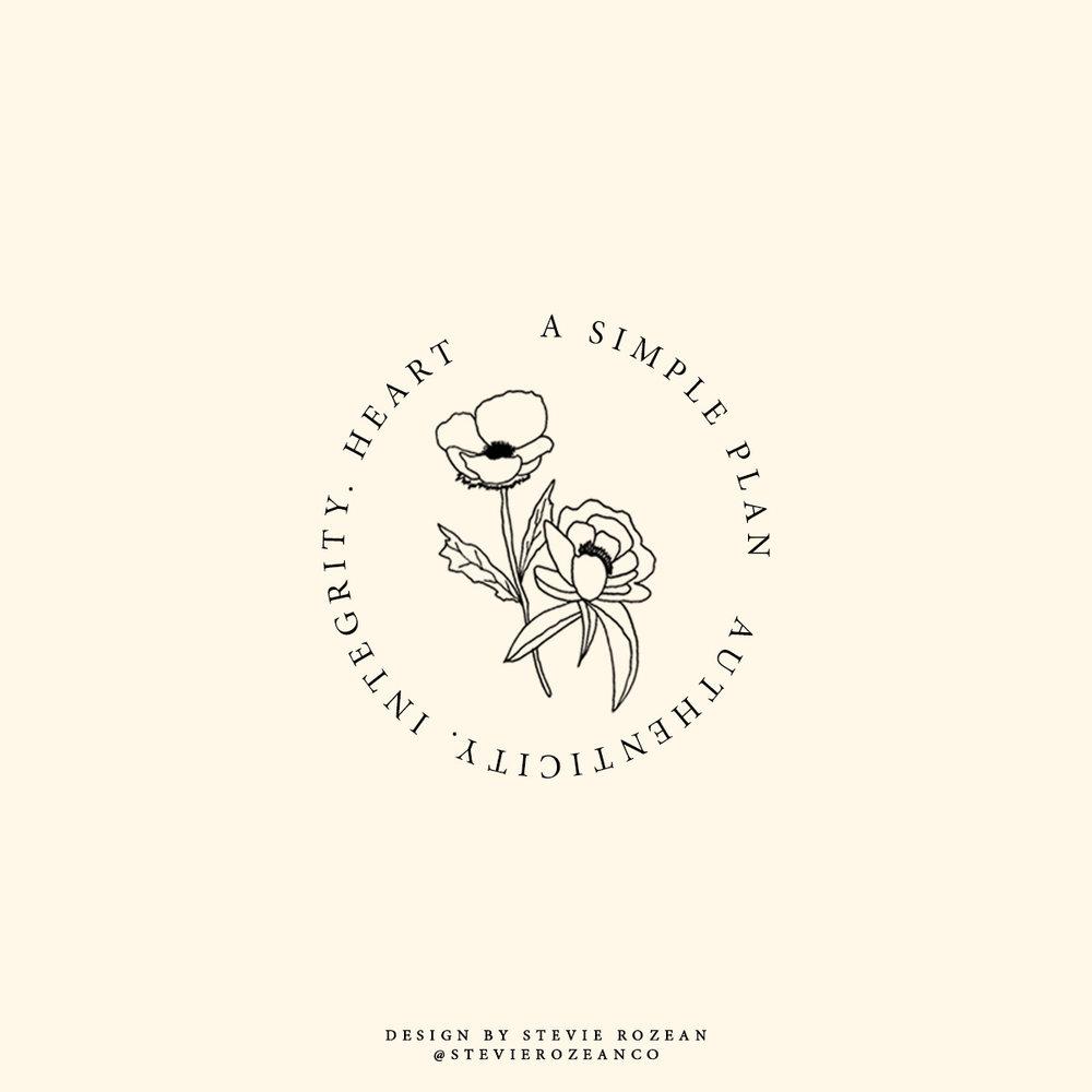 logo design. circle. flower. hand drawn design. flower shop design..jpg