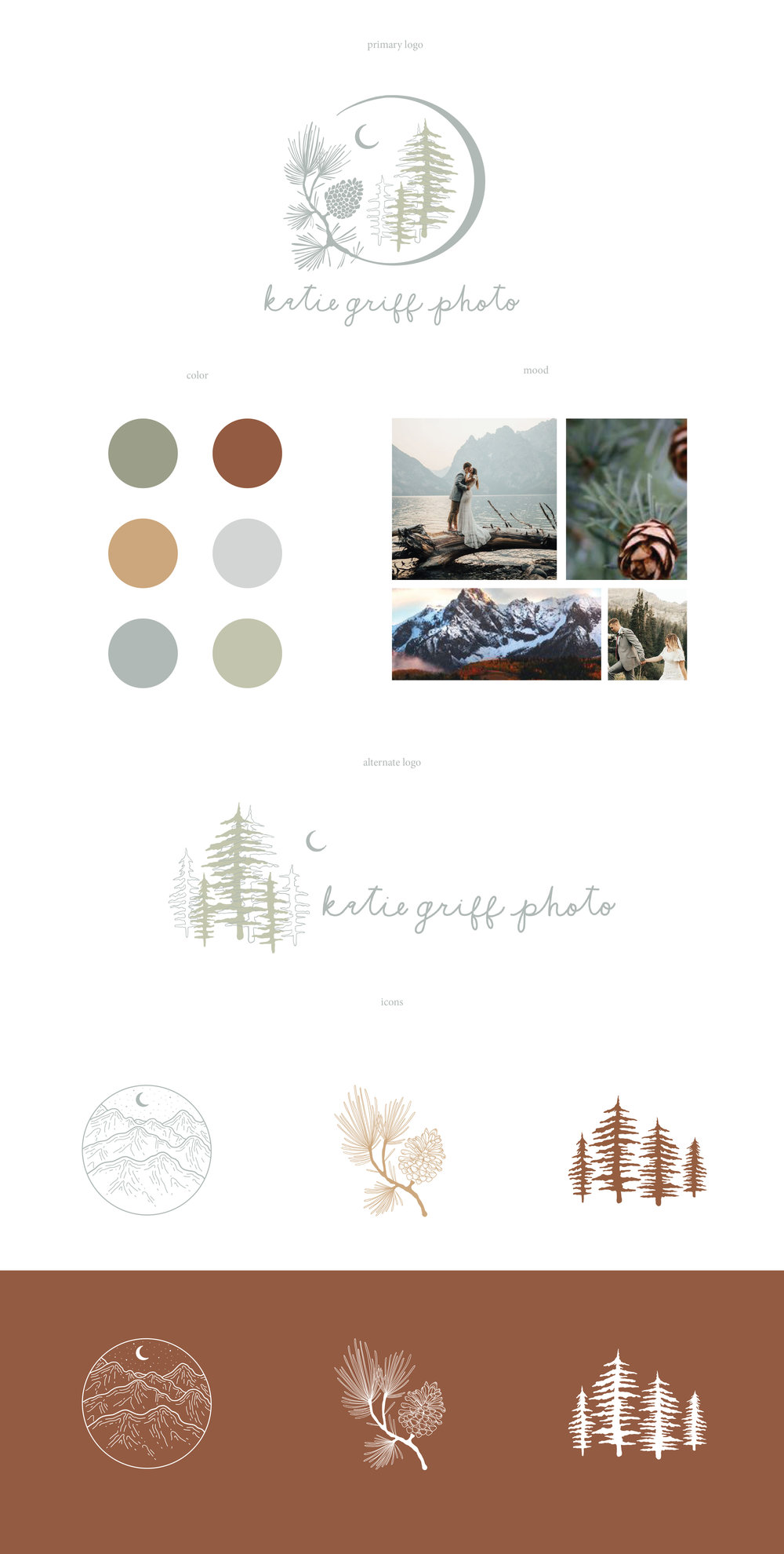 Logo design style guide. wedding photographer logo utah