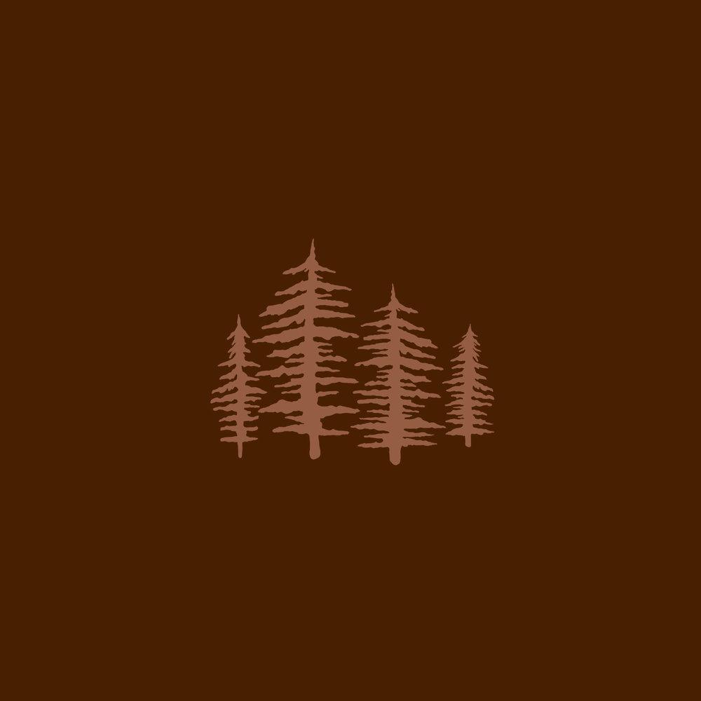 pine trees icon for wedding photographer