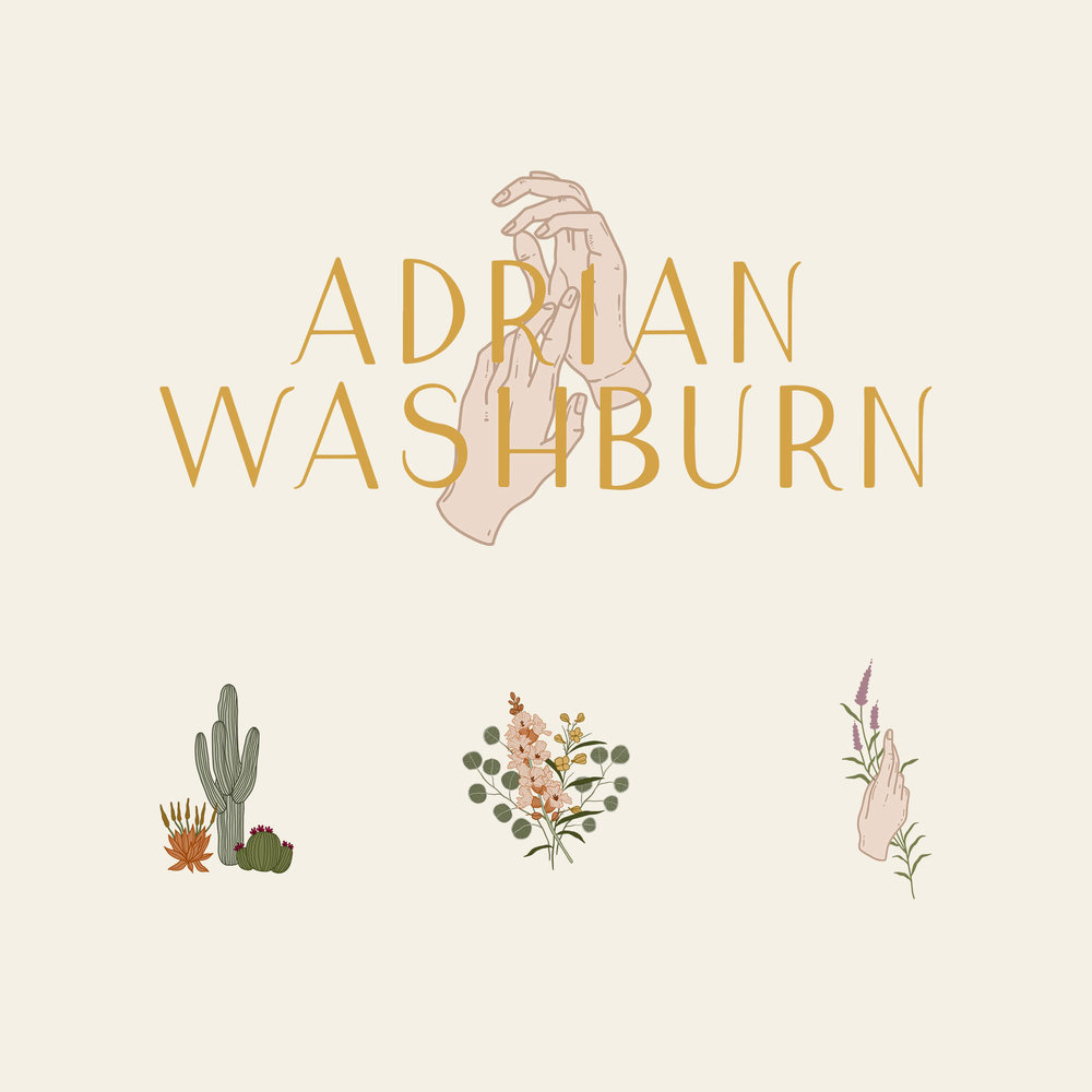 hand logo for wedding photographer, earthy branding