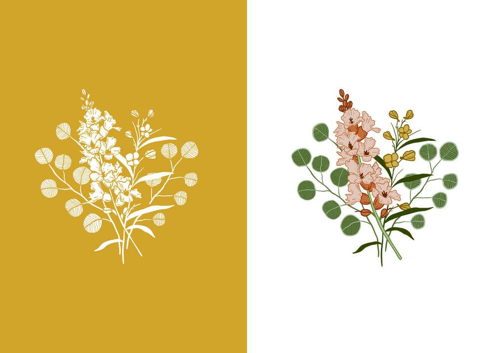wildflower logo for small business. photographer logo. florist logo