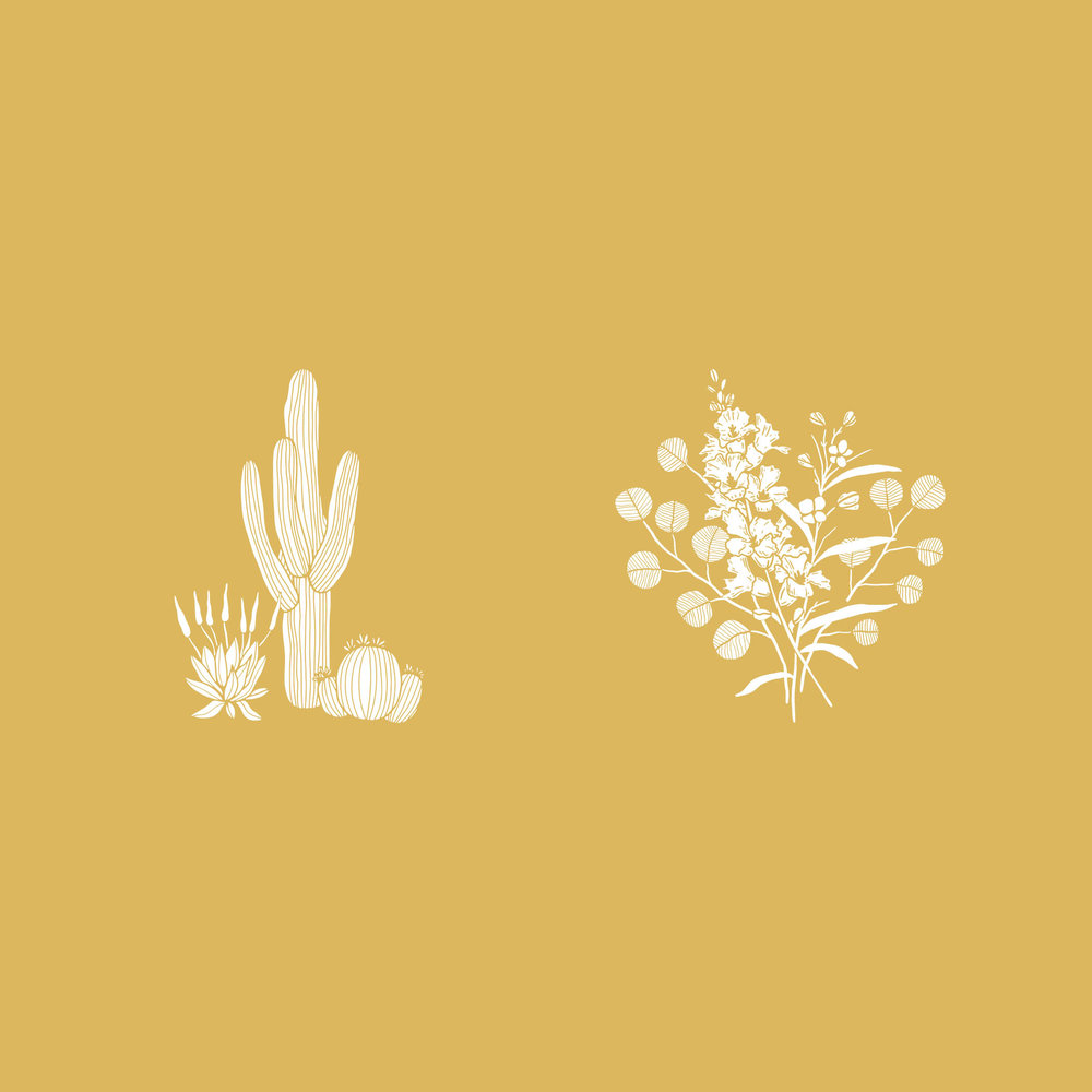 plant icon for creative business. florist logo. photographer. adventure logo