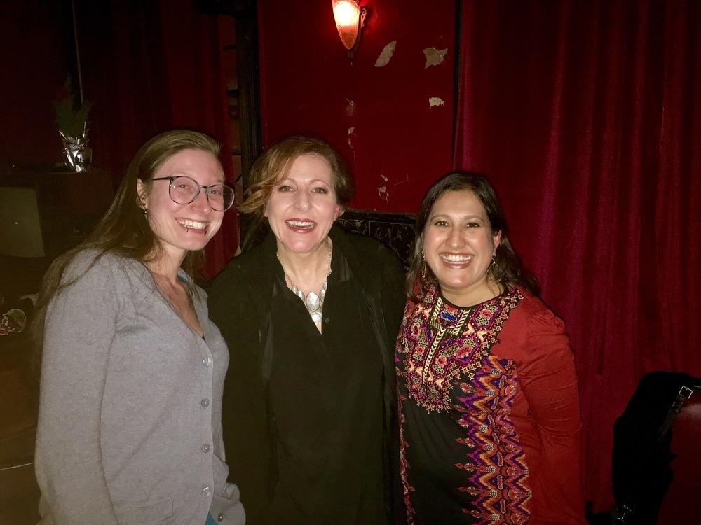 L to R: Ilana Masad, Charlie Schroder, and Kavita Das