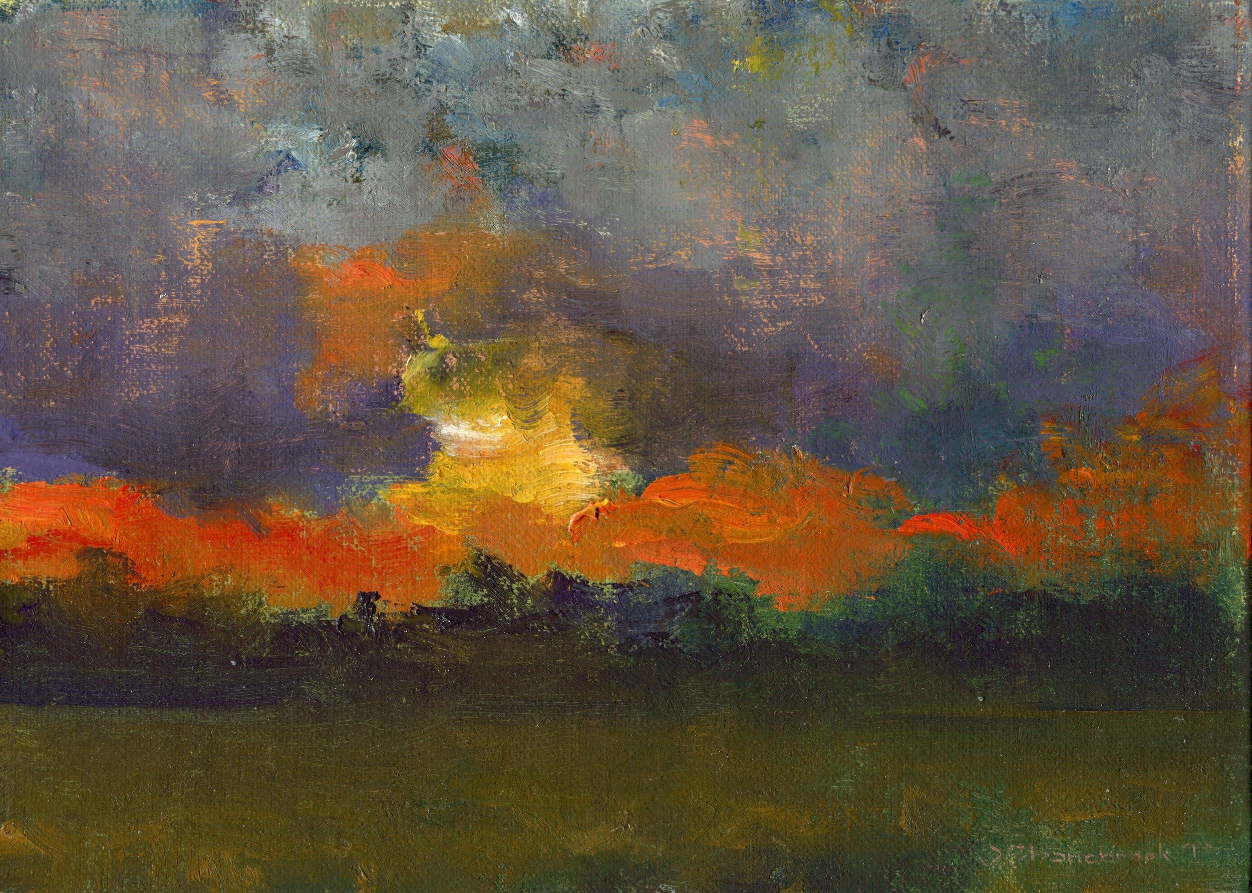 hi field, dusk