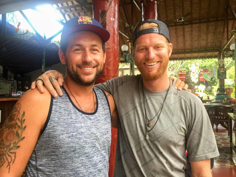 Drew West and I in Ubud