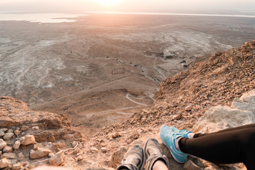The snake path to the Masada plateau