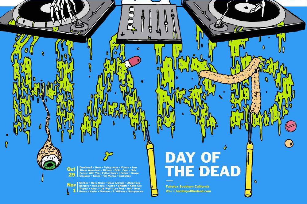 Hard Day of the Dead Mock Festival Poster