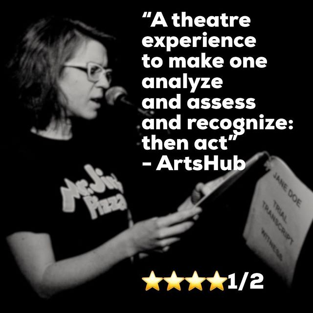 Four and a half stars from @_artshub ! #sydney we have only two more nights left. Hope to see you there! ... @_elbishop @zanettiprod #old505theatre #theatre #sydneyfringe #whatson #sydneytheatre #feminism #feministtheatre #wearejanedoe #metoo #metoomovement #zanettiproductions #endrapeculture #stoprapeculture #janedoeplay @karinlindsay