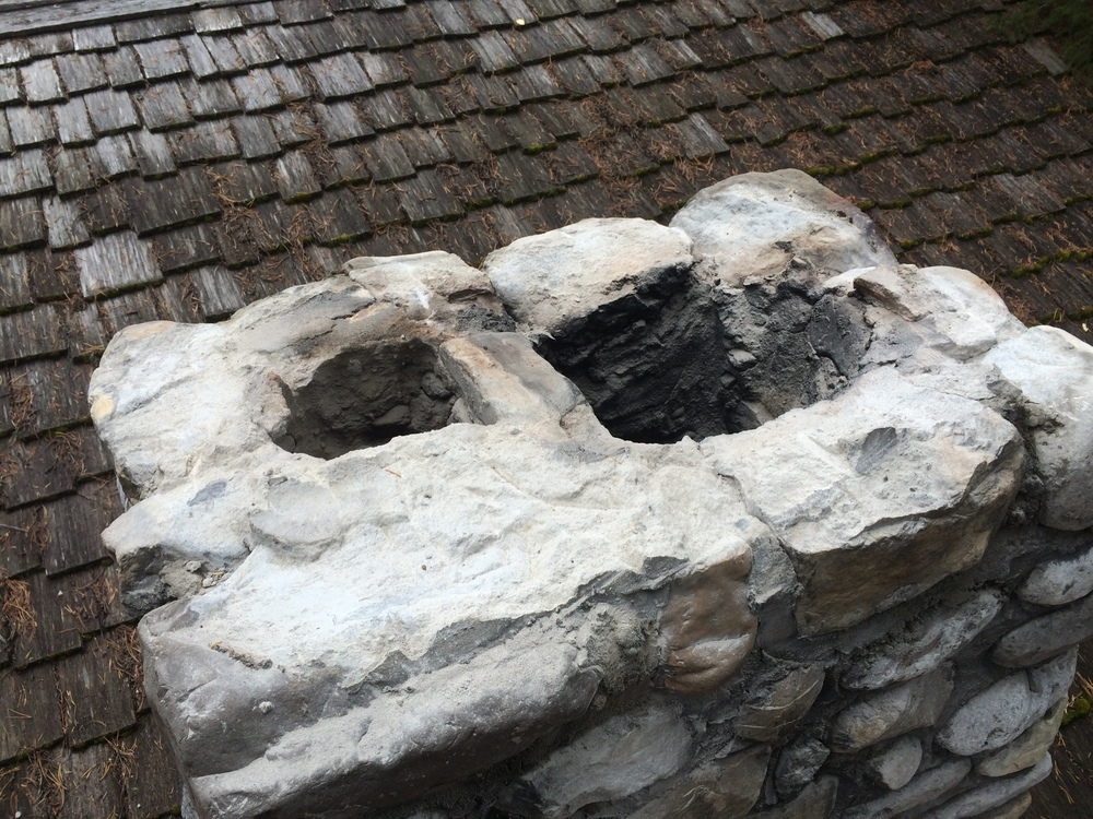 Re-capping a chimney (step 2)