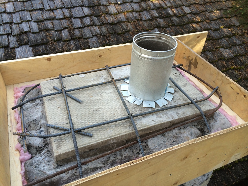 Re-capping a chimney (step 4)