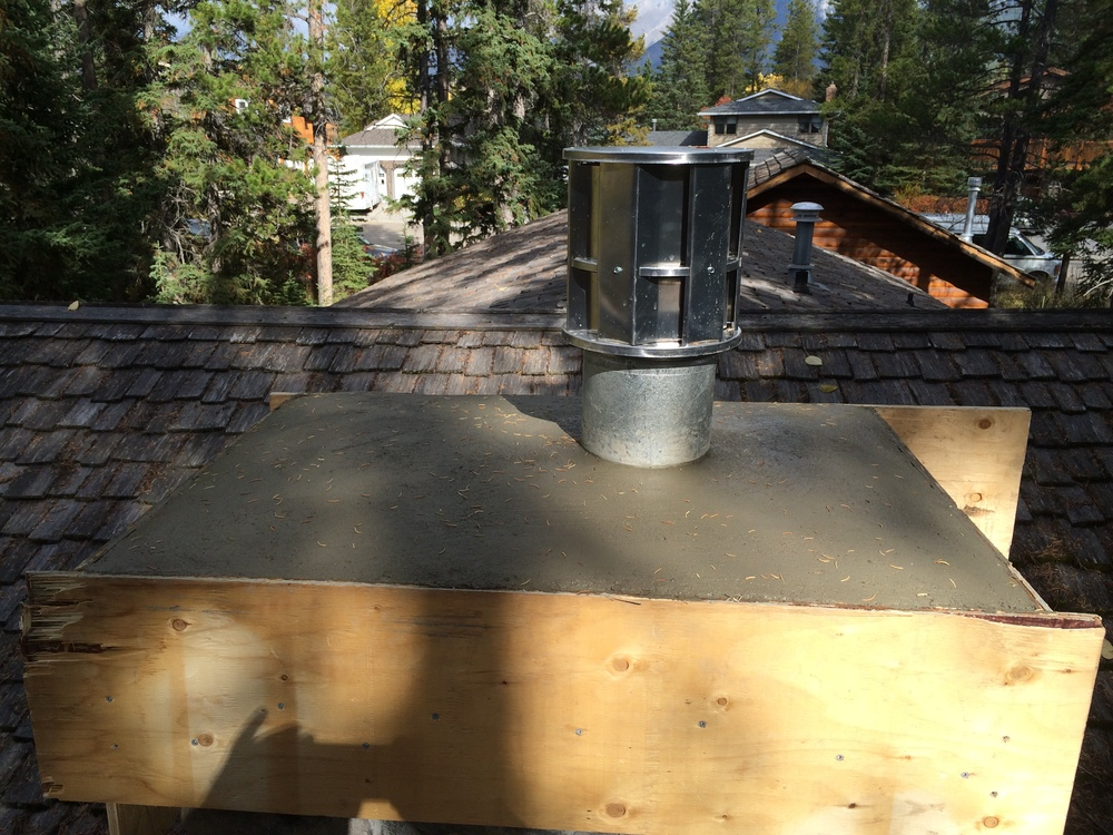 Re-capping a chimney (step 5) -Finish