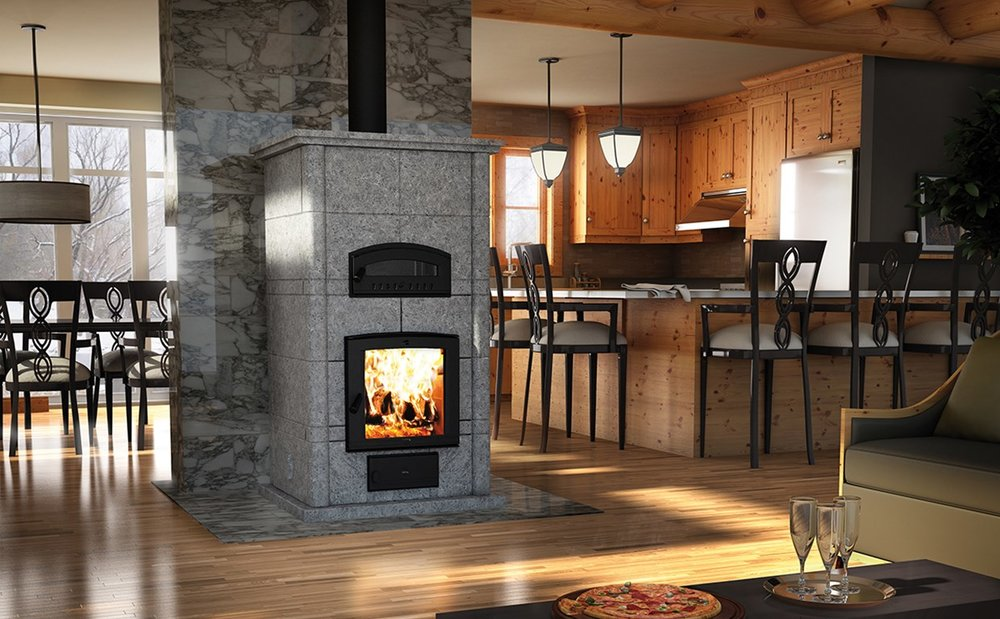 FM1200 Mass Fireplace W/Oven