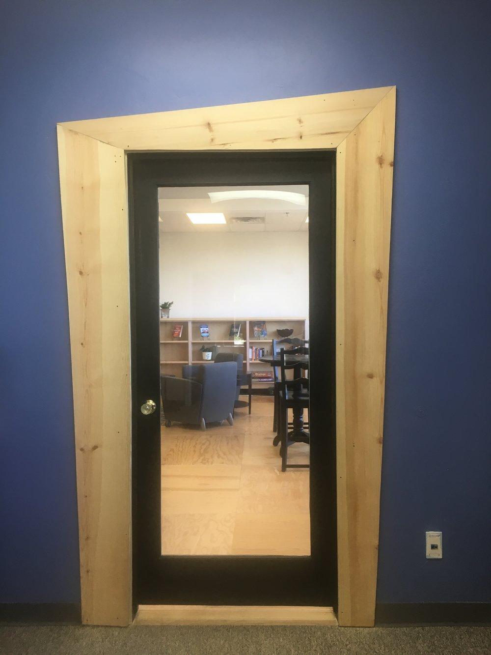 We love our Dr. Seuss inspired door.