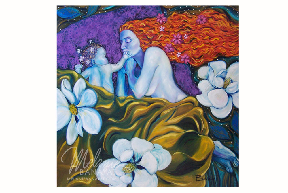 Bed of Flowers [giclee print]