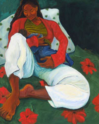 Mother & Child  [giclee print, notecard]