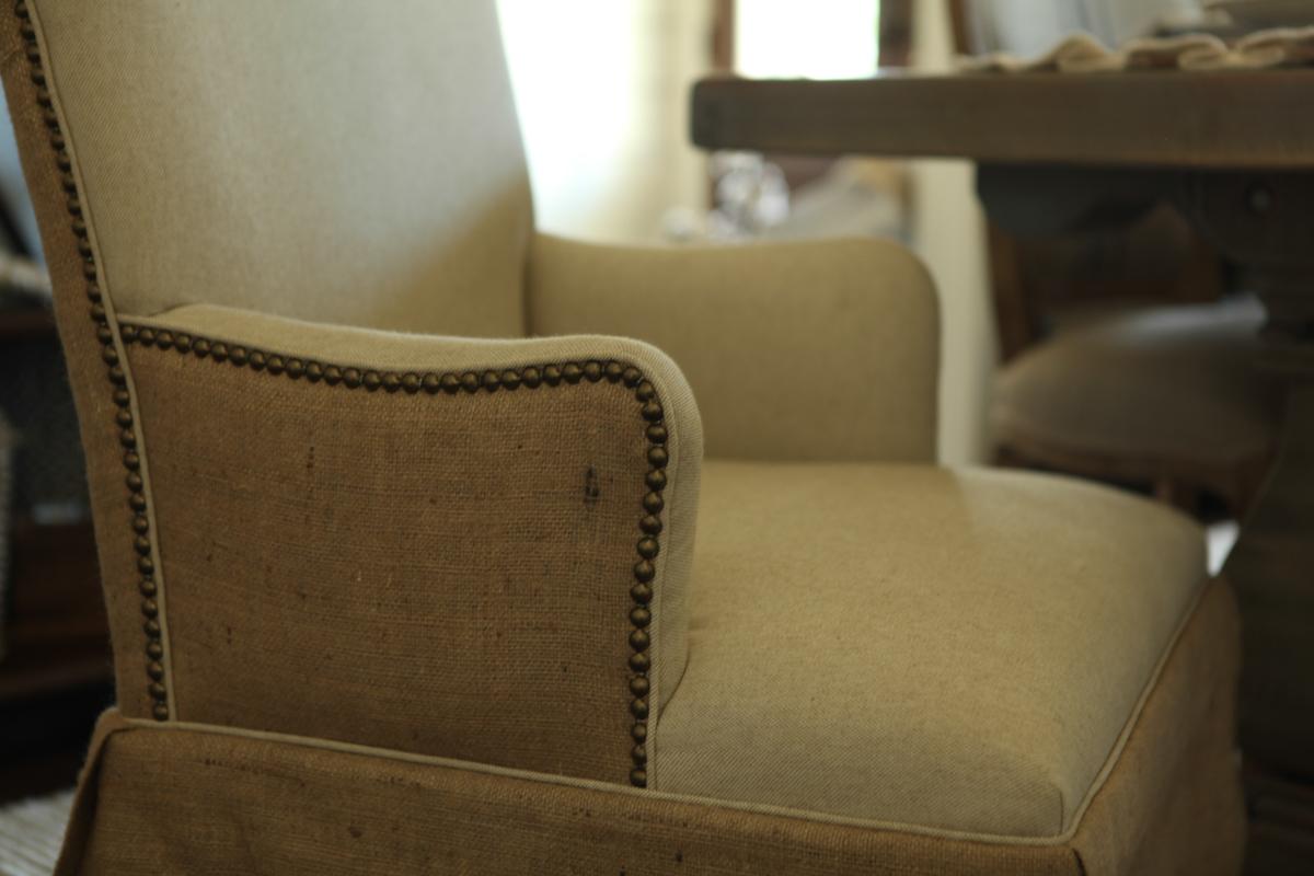 burlap furniture. Linen \u0026 Burlap Hostess Chair Furniture A