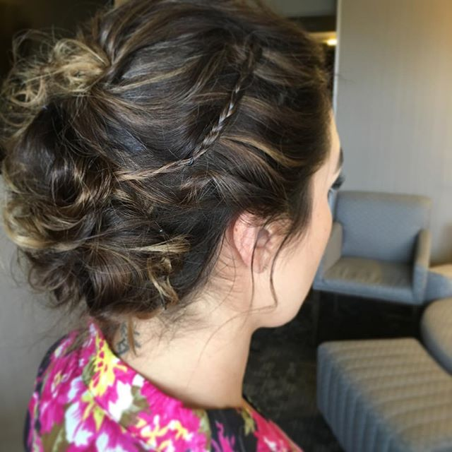 #updo #weddinghair #bridesmaid #braid