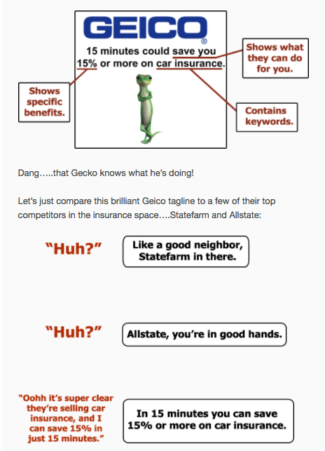 Geico Cognitive Ease Heuristic