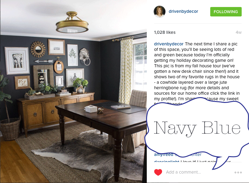 navy is one of my favorite colors so im happy to see this color hit the trend list - Home Decor 2016