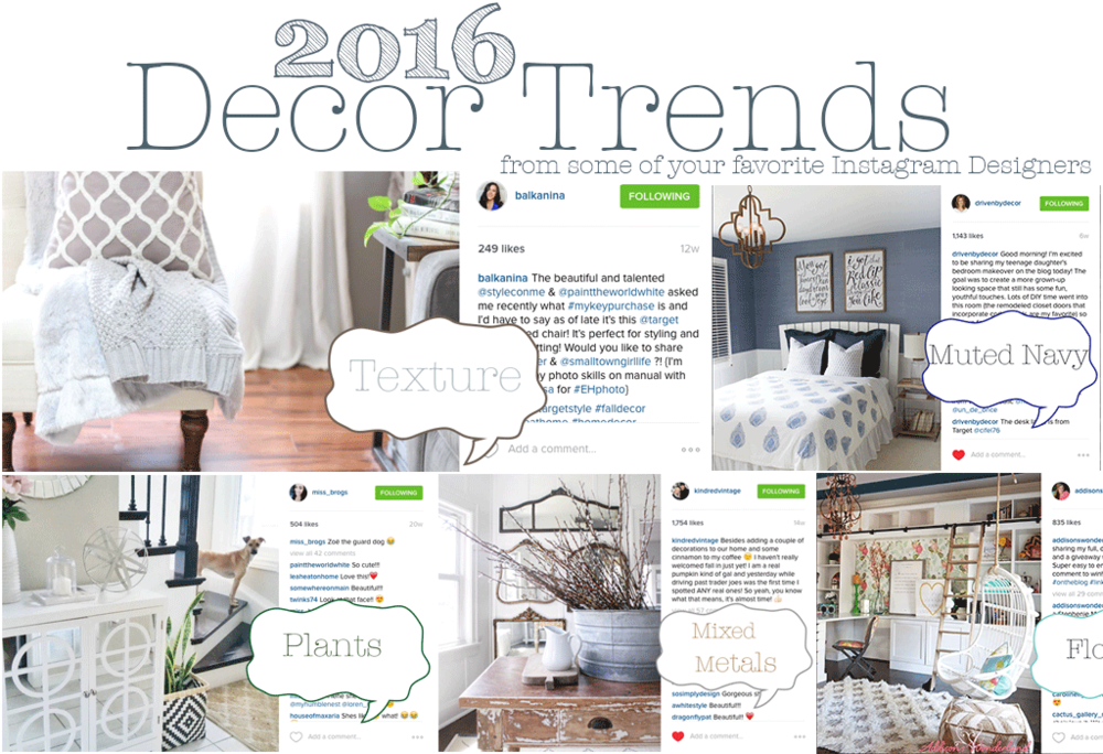 2016 home decor trends to look for house of five for Home decor trends
