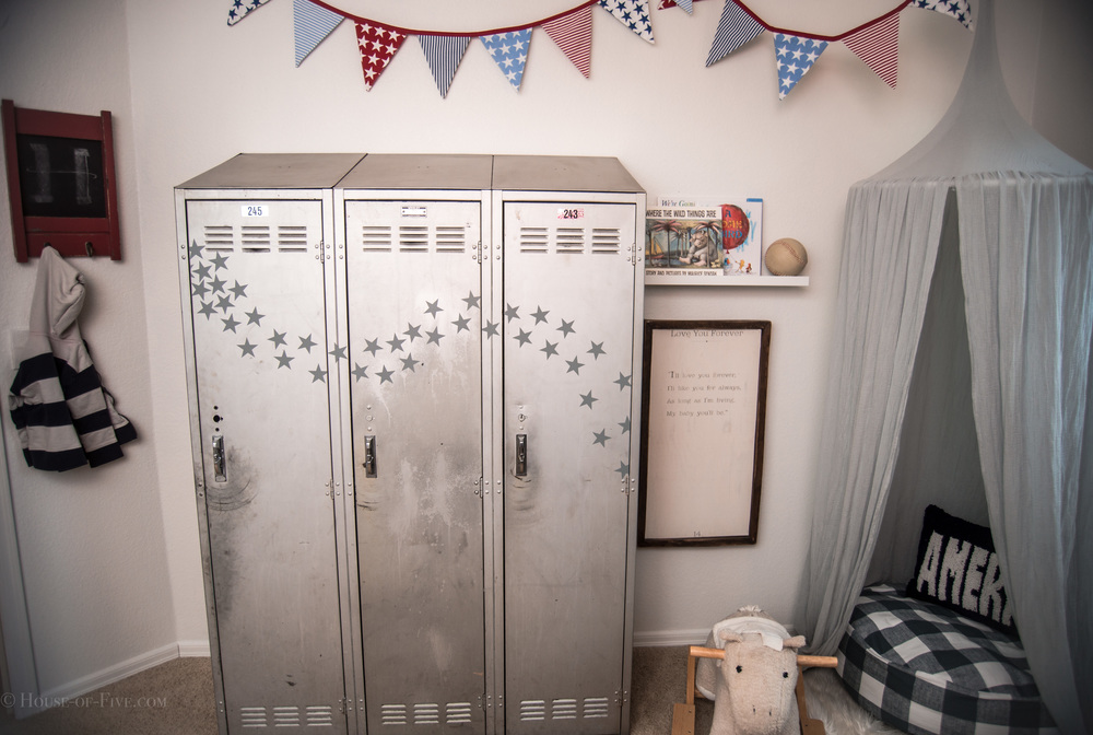 Vintage American Boys Shared Room