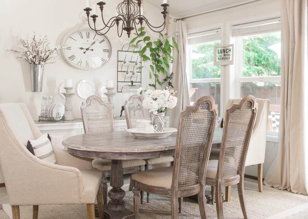 Mix Old and New Decor Dining Room - House of Five Blog